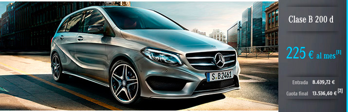 Oferta Mercedes Clase B 200 d con Mercedes-Benz Alternative